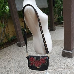 Kate Spade embroidered Rose's leather bag